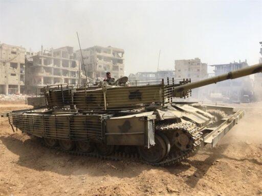 Динамическая защита спасла сирийский танк Т-72