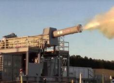 В армии США испытали новый гиперзвуковой рельсотрон, разогнав снаряд да 6 Махов (7400 км/ч)