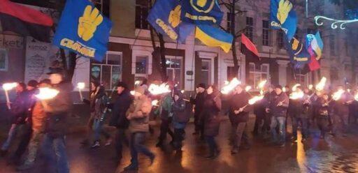 Бандеровцы идут. В Киеве состоялся марш ко дню рождения Бандеры