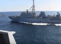ВМС США обвинили российский корабль разведки «Иван Хурс» в «опасном сближении»