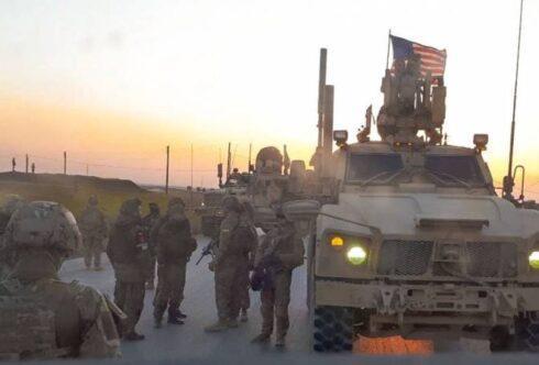 встреча военнослужащих США и российской военной полиции на севере Сирии