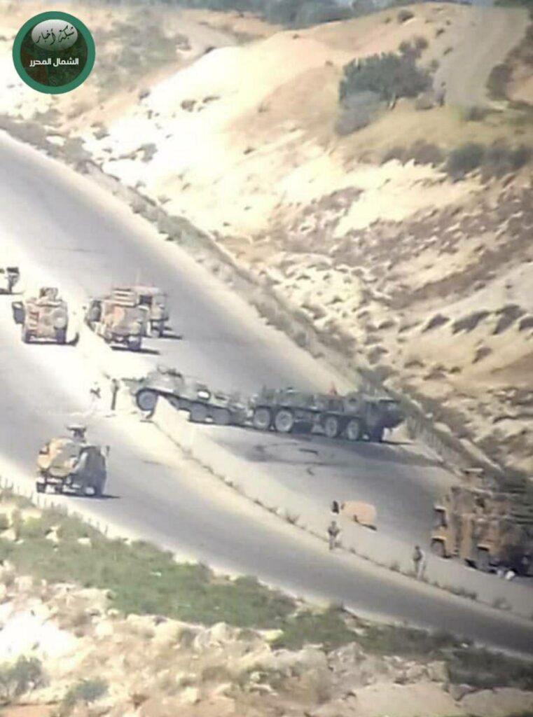 Очередной взрыв на пути российско-турецкой колонны
