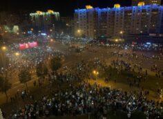 Разгон протестов в Минске: шумовые гранаты, водометы и задержания