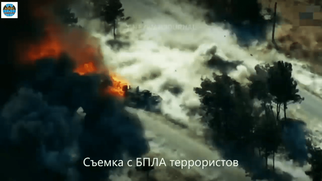 Полное видео теракта против российской колоны 14.07.2020 в Сирии